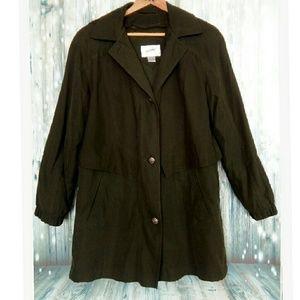 Jacqueline Ferrar army green long jacket